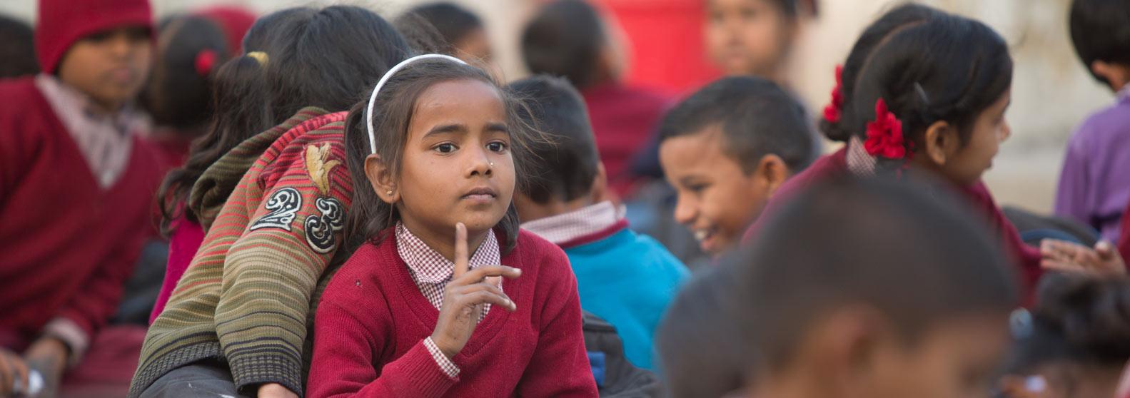 underprivileged children smile